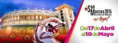 #FeriaNacionalDeSanMarcos #Aguascalientes 17 de abril al 10 Mayo 2015