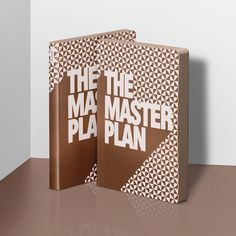 Graphic L 'The Master Plan' Copper and White Smooth Bonded Leather Notebook - available to order online from Stone Gift Ltd