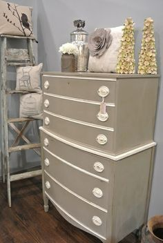 paint tallboy | SkyBluPink Creations: Annie Sloan Chalk Paint ... | Furniture Redo Id ...