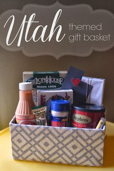 A Little Tipsy: Utah Themed Gift Basket - in case you need a gift idea for me!  :)
