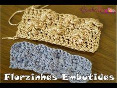 Crochê para Canhotas - Ponto Florzinhas Puff Embutidas