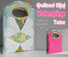 This mini Quilted tote pattern is perfectly sized for love letters, a Kindle or iPad Mini, or a journal. The project is simple to make and a total scrap buster.