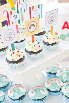 Printable Party  Circles  Rainbow Party Collection by tomkatstudio, $12.50