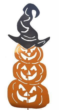 Three Stacked Pumpkins Garden Stake / by RusticaOrnamentals, $85.99
