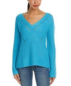 Barth Callani Wool Sweater In Blue Winter Sweaters, Blue Sweaters, Wool Sweaters, Calypso St Barth, Cute Coats, Blue V, Knitting Designs, Sweater Fashion, Sweater Jacket