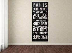 PARIS Vive La France Bus Scroll  Custom hand by mercantilemill, $199.00
