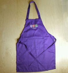 Kids Apron Craft Apron Children Cooking Apron Baking Painting DIY Purple NEW