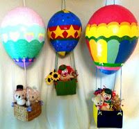 Hot air balloons are fun to ride in, their colorful display is lovely to watch and make exceptionally pretty photographs. Have you ever wondered if you could capture the beauty of these hot air balloons in another way? Well, you can, and I am. Paper Mache Balloon, Hot Air Balloon Paper, Balloon Crafts, Paper Mache Bowls, Paper Mache Sculpture, Paper Mache Projects, Paper Mache Crafts, Unique Party Themes, Party Ideas