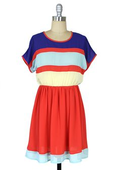 Around the Colorblock Dress: Red [ID1694] - $44.99 : Spotted Moth, Chic and sweet clothing and accessories for women