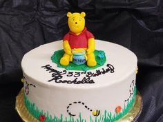Winnie the Pooh birthday cake.