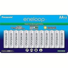 Aa Eneloop-Panasonic Rechargeable Batteries 2100 Cycle Ni-Mh 12 Pack New Consumer Electronics, Home And Garden, Change, Babies, Toys, How To Make, Ebay, Activity Toys, Babys