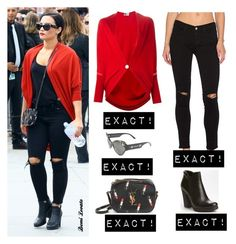 """Demi Lovato"" by bpstealtheircloset ❤ liked on Polyvore featuring Lanvin, Frame Denim, Yves Saint Laurent, Versace and Prada"