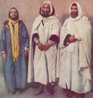 Burnous - A long cloak of coarse, woolen fabric with a hood, usually white in color. They were originally worn by the Berbers and Arabs, but became a distinctive part of the French colonial army's Spahi soldiers.