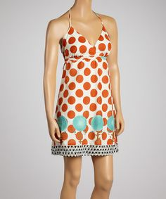 Take+a+look+at+the+Red+Polka+Dot+Halter+Dress+on+#zulily+today!