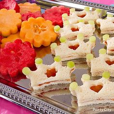 Use cookie cutters, fresh fruit, and simple ingredients to create princess-themed foods.