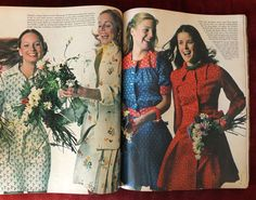 A Sue Brett dress featured in Seventeen magazine. 70s Fashion, Teen Fashion, Fashion Models, Vintage Fashion, Meredith Baxter, Vintage Clothing, Vintage Outfits, Patti Hansen, Seventeen Magazine