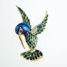 SOLD! Vintage Rhinestone Sphinx Hummingbird Pin $32  Make Offer http://www.rubylane.com/item/885482-JE-415/Vintage-Rhinestone-Sphinx78-Hummingbird-Pin
