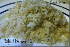 Basic Baked Brown Rice: this looks easy enough.  Maybe now I don't need boil-in-the-bag?
