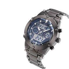 3 Colour Dual Dial Calendar Alarm 3ATM Waterproof LCD Chronograph Mens Sport Quartz Watch Stainless Steel Band Wrist Watch Cool Watch Unique Watch 3311338 2017 – $18.99