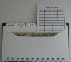 Cash Envelope System Wallet with Black and by UsingTalentsForHim
