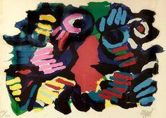 Untitled - Karel Appel - Kunstenaars | Bergarde