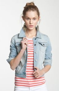 BP. Essential Denim Jacket (Juniors) | Nordstrom