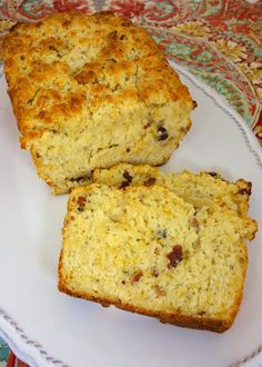 """Cracked-Out"" Beer Bread - loaded with cheddar, bacon and ranch 