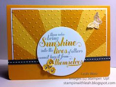 Sunburst Card. Feel Goods  stamp set Stampin' Up!.