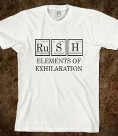 #Skreened Rush #PeriodicTable #Tees