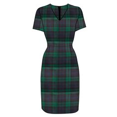 Fitted Plaid Dress made in Scotland