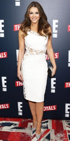 Look of the Day - March 10, 2015 - Elizabeth Hurley from #InStyle
