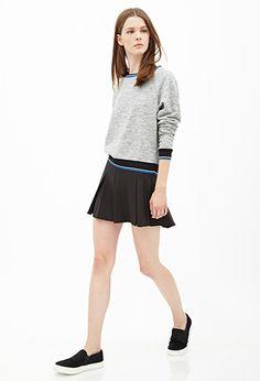 Forever 21 Varsity-Striped Raglan Sweatshirt | Pretty Little Liars