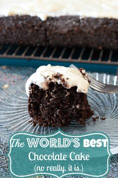 Hands down, the best chocolate cake recipe, topped with an amazingly easy cream cheese frosting.