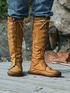 Native American Moccasin Boots For Men Knife sheath, man boots and scouts on pinterest