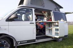 A normal-sized camper van. Dig it! …