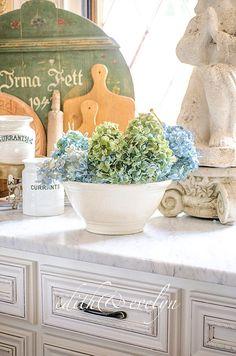 Vintage Ironstone Bowl Banded Pedestal Bowl by edithandevelyn