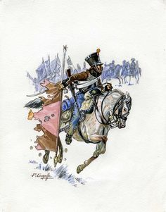 French; 2nd Hussars, Hussar, Austerlitz, 1805 by P.Courcelle