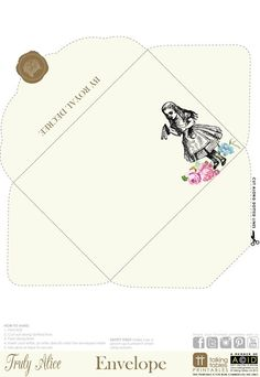 Truly Alice Free Printable - Envelope