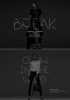 Break   Free Font on Typography Served