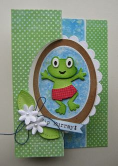 Card made by DT member Boukje with Collectables Frog (COL1352) by Marianne Design