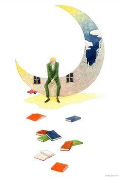 """rie Nakajima """"To the moon reading"""""""