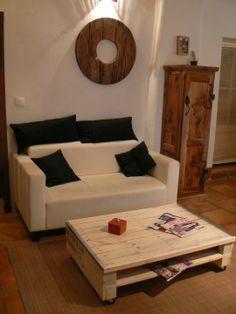 Grande table basse en bois de palette : Meubles et rangements par palette-et-co