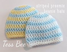 NICU Baby Hat Baby Boy Hat 2x Striped Baby Hats Premature | Etsy Baby Beanie Hats, Baby Girl Hats, Girl With Hat, Preemie Babies, Premature Baby, Newborn Baby Boy Gifts, Handmade Baby Gifts, Nicu, Double Knitting