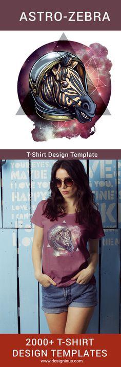 T-Shirt Design Plus - Cosmic Zebra - Designious T Shirt Design Template, Design Templates, Tanks, Tank Tops, Image File Formats, How To Make Tshirts, Vector Format, Coreldraw, Screenprinting