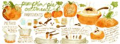 Pumpkin Pie Oatmeal by Ashleigh Green - They Draw & Cook