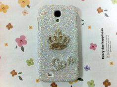 New Chic Luxury Bling Crystal Golden Crown LOVE by Mobimoda, $24.99