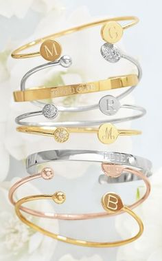 Monogram stackable braceltes