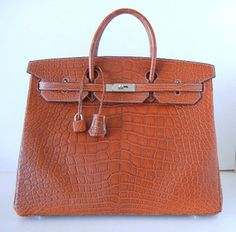 HERMES Birkin 40 Bag FAUVE matte alligator Palladium