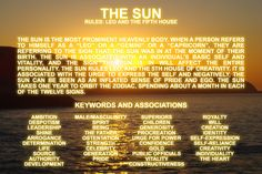 THE SUN  #Zodiac #Astrology For related posts, please check out my FB page:  https://www.facebook.com/TheZodiacZone