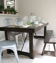 Solid Western Red Cedar Dining Table